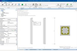 Programmoberfläche der Frilo-Lösung Stahlbetonstütze B5+ zur Bemessung von Stahlbetonstützen mit hochfester Bewehrung<br />