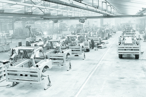 Produktion in Rocester 1958.