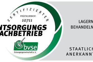 Mit dem Zertifikat der bvse-Entsorgergemeinschaft (Bonn) darf auf dem Gelände von Leipfinger-Bader in Puttenhausen jetzt auch sortenreines Ziegelmaterial fremder Hersteller recycelt werden.