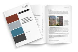 """Heft 5 der DAfM-Schriftenreihe """"Kostenoptimiertes und typisiertes Bauen mit Mauerwerk im Geschosswohnungsbau"""" kann ab sofort zum Preis von 9,90 Euro inklusive MwSt. bei der DAfM bestellt werden."""