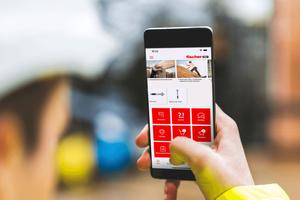 Nach dem Starten erscheinen die am meisten benötigten Funktionen, die sich Anwender in roten Kacheln individuell zusammenstellen, und die sie mit einem Fingertipp nutzen können.