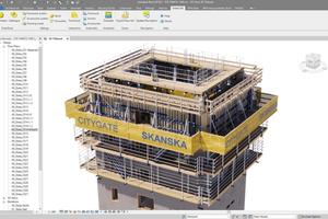 Die leistungsstarke Planungssoftware DokaCAD for Revit ermöglichte eine 3D-Schalungsplanung unter Berücksichtigung der Aspekte Sicherheit, Zeit und Kosten.