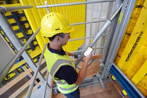 Concremote misst über Sensoren die Temperatur und berechnet die Druckfestigkeit der Betonstruktur. Beim Projekt Citygate konnte die geplante Taktzeit von einer Woche pro Stockwerk somit sichergestellt werden.