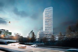 Citygate, mit einer  endgültigen Höhe von 144 m eines der höchsten Gebäude Skandinaviens, wurde vollständig nach der Methode BIM geplant.