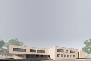 Ammerbuch-Altingen bekommt für rund 15 Millionen-Euro eine neue Grundschule mit Sporthalle. Das knapp 10.000 Quadratmeter große Schulgebäude wurde von der Architektengemeinschaft Dasch Zürn + Partner mbB aus Stuttgart geplant. (Quelle: Fotocredit dasch zürn + partner | Visualisierungen).