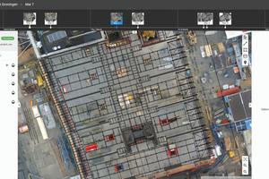 Der Abgleich zwischen Plan und Baurealität erfolgt am Monitor.<br />