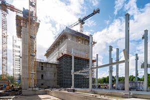 Der Rohbau der Klärschlamm-Monoverbrennungsanlage in Helmstedt/Buschhaus wurde in nur 8,5 Monaten realisiert.