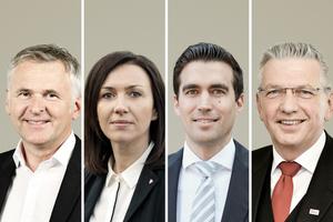 Der neue Vorstand (v. l. n. r.): Johannes Edmüller (Vorstandsvorsitzender), Heidrun Keul (stv. Vorstandsmitglied), Jürgen Habenbacher (stv. Vorstandsmitglied), Clemens Kuhlemann (Geschäftsführer).