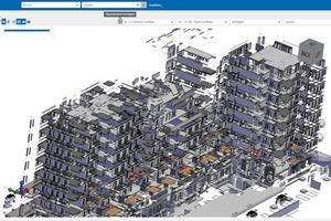 Das Besondere an dem BIM-Viewer ist, dass er direkt in iTWO fm aus den importierten Daten interaktive 3D-Ansichten generiert.