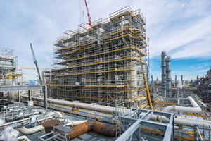 Der Neubau der Acetylenanlage bei BASF SE in Ludwigshafen gehört zu den ersten Industriegerüstprojekten weltweit, die nach der BIM-Methode umgesetzt wurden.