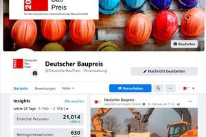Obwohl der eigentliche Wettbewerb noch nicht gestartet ist – die Fragebögen zum Deutschen Baupreis werden erst zum 15. April freigeschaltet – ist auf der Facebook-Seite schon viel los.