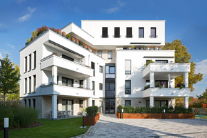 """Die Anlage """"Parkside"""" bietet mit rund 7.600 Quadratmetern reichlich Wohnraum. Für ein angenehmes Zusammenleben sorgt auch das verwendete Unipor-Ziegelmauerwerk – unter anderem aufgrund seines hohen Schallschutzes."""