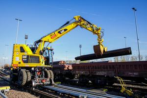 Für die Arbeiten am Ablaufberg eignete sich für Eiffage Rail nur der Cat M323 F.