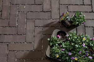 Mit vier ausdrucksstarken Farben passt Penter Aquata zu fast jeder Fläche – hier eine Terrasse in modernem Anthrazit.