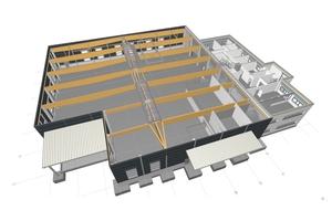 Das 3D-Modell von Brüninghoff bietet dem Bauherrn bei späteren Um- oder Anbauten alle notwendigen Informationen.