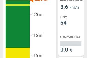 Die neue App von Hamm, Smart Doc, zeichnet während der Verdichtung die Geschwindigkeit, die Frequenz, die Amplitude, den Anteil an Sprungbetrieb sowie den erreichten Verdichtungswert (HMV) auf.