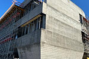 Die Herstellung der außen abgestuften Wände war ein bautechnisches Novum.