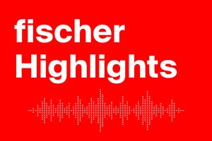 """Das Logo von """"Fischer Highlights"""", dem neuen Podcast der Unternehmensgruppe Fischer."""