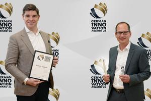 Mike Bucher (Vorstandsvorsitzender) und Werner Venter (Produktmanager Isolink) freuen sich über die besondere Auszeichnung.
