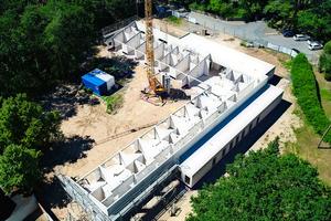 Neben der Materialspende für das Mauerwerk freuten sich die Verantwortlichen über die drei Wochen kürzere Bauzeit.