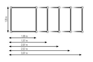 Das Allround Traggerüst TG 60 von Layher ist modular aufgebaut. Die hochtragfähigen Türme bestehen aus vorgefertigten Rahmenelementen und den in verschiedenen Standardlängen erhältlichen Allround-Riegeln und -Diagonalen. Die Feldlänge kann dadurch variabel an die Lastvorgaben angepasst werden. Das Ergebnis ist eine Reduzierung der Turmanzahl durch optimale Materialausnutzung und damit eine geringere Montagezeit.