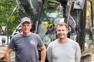 Kiesel-Fans: Baustellenleiter Bernd Schmitt (l.) und Firmenchef Markus Westerburg.<br />