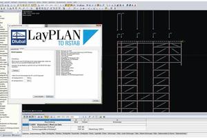 Vor Montagebeginn musste das Traggerüst statisch nachgewiesen und per LayPlan To RStab an das Stabwerksprogramm übergeben werden.