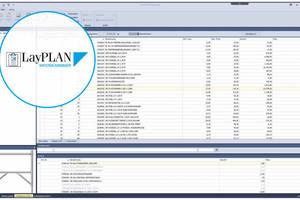 Mit dem LayPlan Materialmanager ließen sich Materiallisten automatisch erstellen und flexibel bearbeiten.
