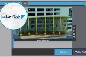 Mit dem LayPlan VR Viewer war im sogenannten digitalen Zwilling eine virtuelle Begehung der Traggerüstkonstruktion möglich.
