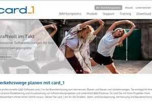 Die überarbeitete Card_1 Website glänzt mit neuem Bildkonzept, einem verbesserten Trainingskalender und einem Versionsupdate des Content-Management-Systems.