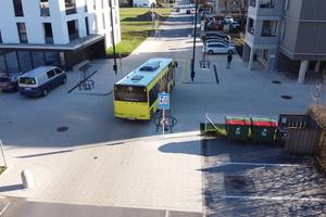 Die neue Fläche wird regelmäßig von Bussen befahren.