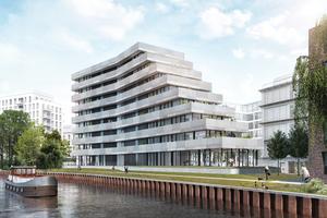"""Direkt am Ufer des Spreebogens im Stadtteil Charlottenburg entsteht """"The Terrace""""."""