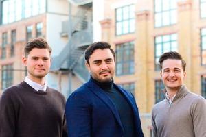 Die drei Cathago-Gründer (v.l.n.r.): Emil Buxmann (Produktentwicklung und Controlling), Richard Göldner (Finanzen und Vertrieb), Philipp Dressler (Marketing)