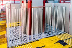 Durch die Glasfaserbewehrung werden die hochsensiblen Versuche nicht gestört.