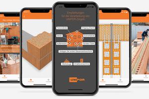 Die neue Unipor-App unterstützt Fachleute mit hilfreichen Empfehlungen bei der Erstellung von hochwertigem Ziegelmauerwerk. Einmal heruntergeladen funktioniert sie auch offline.