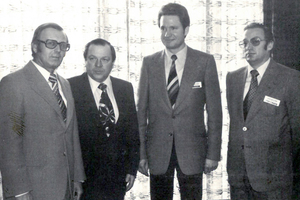 Von Beginn an hat der VDBUM die Vernetzung der Branche vorangetrieben, beispielsweise bei einer Bomag-Veranstaltung 1979.