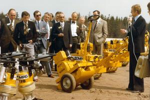 Der VDBUM-Vorstand 1977: Heinz Schild, Horst Beuter, Manfred Wichert und der hauptamtliche Geschäftsführer Rudi Silter, der gleichzeitig das Amt des 1. Vorsitzenden ausübte.