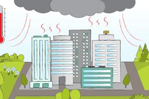 Feuchte Luftmassen, die in der Sommerhitze über die Stadt ziehen, werden von der aufsteigenden Luft in kältere Schichten mitgenommen. Kondensieren die hohen Feuchtegehalte, kommt es zu heftigem Niederschlag über dem Stadtgebiet.