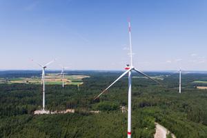 Windpark der EnBW in Bühlertann, Landkreis Schwäbisch Hall.