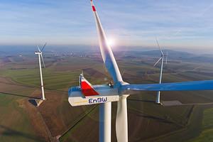 Windpark der EnBW in Rot am See, Landkreis Schwäbisch Hall.