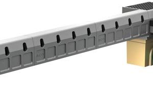 ACO DrainBox: Linien- und Punktentwässerung kombiniert mit der ACO Drain Hohlbordrinne KerbDrain und dem Straßenablauf Combipoint PP.
