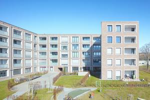 Der Komplex vereint öffentliche Orte mit ruhigem Wohnraum.