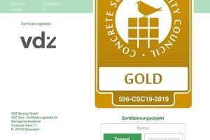 Das Opterra Werk in Wössingen ist CSC-zertifiziert und trägt das Gold-Siegel.<br />