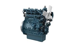 Kubotas erster Dieselmotor unter 19 kW mit elektronischer Steuerung. Die Entwicklung von schwarzem Rauch wird durch ein neues Verbrennungssystem auf ein unsichtbares Niveau reduziert.<br />