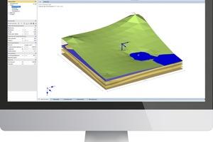 Dank der Implementierung von Bohrprofilen lassen sich mit SBR+ von nun an polygonale, interpolierte Bodenschichtverläufe sowie Geländeverläufe definieren. Aushubbereiche machen erstmals die Berechnung von Hebungen infolge von Aushubentlastung möglich.