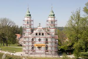 Die Heilig-Kreuz-Kirche im oberbayerischen Bad Tölz.