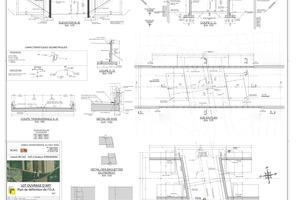 Konstruktionszeichnung der Unterführung im Zusammenhang der Neubaudirektverbindung A35 und der RD201.