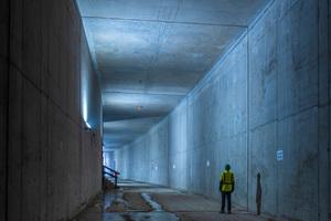 Tunnelbauwerk in offener Bauweise: Hier kamen die gekühlten Betone zum Einsatz.
