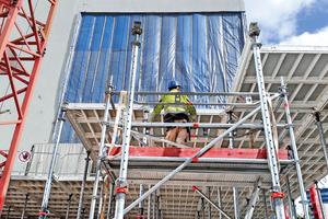 Die Deckenschalung MevaDec war für Bauleiter Mathias Lippski ein maßgeblicher Erfolgsfaktor des Projekts.