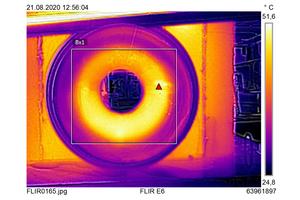 In einer zweiten Versuchsreihe heizten die Gutachter das Fabekun-Rohr von innen auf und hielten die Ergebnisse ebenfalls mit einer Wärmebildkamera fest.